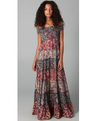 Free People | Floral Maxi Dress in Black | Lyst
