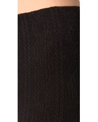 Free People - Gray Cable Knit Legging - Lyst