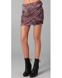 IRO - Red Catalia Draped Skirt - Lyst
