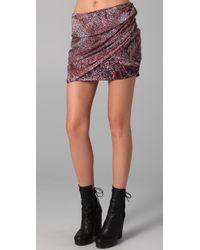 IRO | Red Catalia Draped Skirt | Lyst