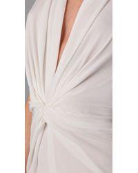 Issa | White Long Halter Dress | Lyst