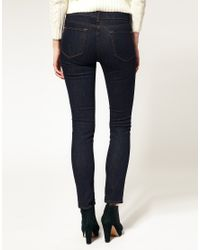 J Brand | Blue 811 Mid Rise Ankle Skinny Jean In Pure | Lyst