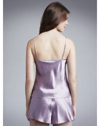 John Lewis | Women Monique Silk Camisole And Shorts Set Purple | Lyst