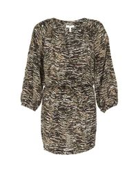Joie | Brown Molly Silk Animal-print Dress | Lyst