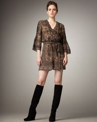 Joie Brown Border Paisley Sarika Dress