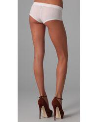 Kiki de Montparnasse - White Luxe Cashmere Boy Shorts - Lyst