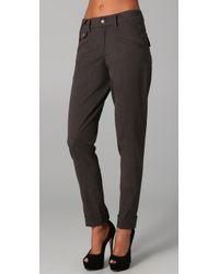 L.A.M.B. | Gray Cuffed Skinny Trousers | Lyst