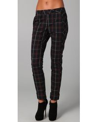 L.A.M.B. | Blue Plaid Skinny Pants | Lyst