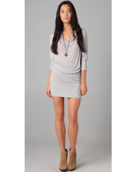 Lanston Gray Drape Mini Dress