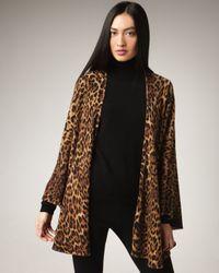 Neiman Marcus | Multicolor Leopard-print Cashmere Cape | Lyst