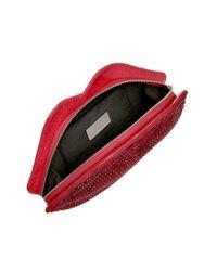 Lulu Guinness | Red Swarovski Lips Clutch | Lyst