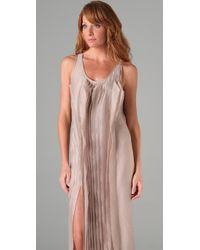 Max Azria - Natural Asymmetrical Long Dress - Lyst