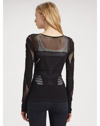 McQ | Black Knitted Top | Lyst