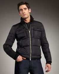 Moncler Black Edouard Racer Jacket for men