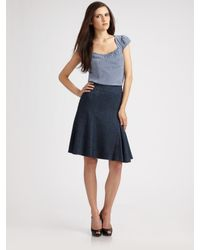 Nanette Lepore | Blue Eve Ruched Silk Top | Lyst