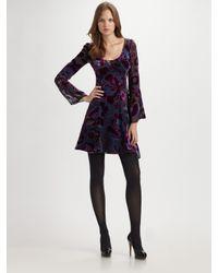 Nanette Lepore | Blue Dita Velvet Burnout Dress | Lyst