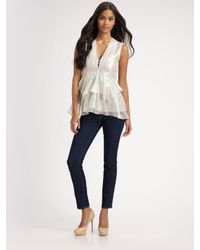 Nanette Lepore | White Ethereal Top | Lyst