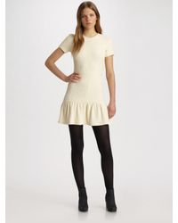Opening Ceremony | Natural Dropped Ruffled T-shirt Dress | Lyst