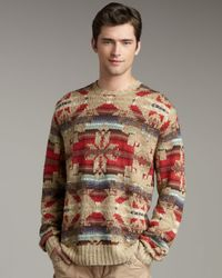 Polo Ralph Lauren | Red Southwest Sweater for Men | Lyst