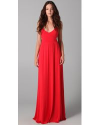 Rachel Pally | Red Long Cutout Dress | Lyst