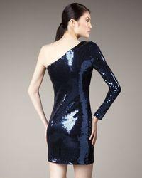 Rachel Zoe - Blue One-sleeve Sequin Dress - Lyst