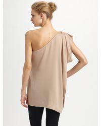 Rachel Zoe | Natural Marie One-sleeve Caftan Top | Lyst