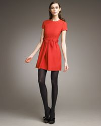 RED Valentino | Red Belted Short-sleeve Dress | Lyst