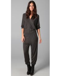 Rosel | Gray Aviator Jumpsuit | Lyst