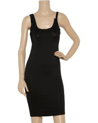 T By Alexander Wang - Black Jersey Tankdress - Lyst