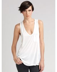 T By Alexander Wang | White Classic Tank | Lyst