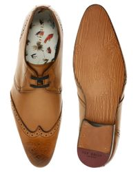 Ted Baker | Brown Brundll Lace Up Casual Brogues for Men | Lyst