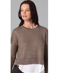 Theory | Green Adelfa Sweater | Lyst