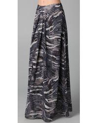 Torn By Ronny Kobo - Gray Madison Long Skirt - Lyst