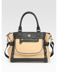 Tory Burch | Natural Carlin Two-tone Satchel | Lyst