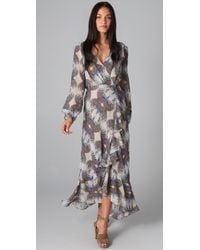 Twelfth Street Cynthia Vincent | Multicolor Cascade Ruffle Maxi Dress | Lyst