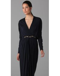 Yigal Azrouël - Blue Embellished Gown - Lyst
