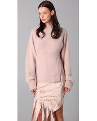 Alexander Wang | Natural Angora-blend Split Sweater | Lyst