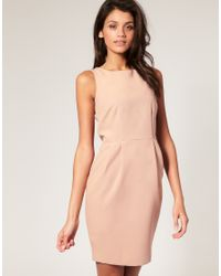 ASOS Collection - Natural Asos Pencil Dress with Tulip Skirt - Lyst