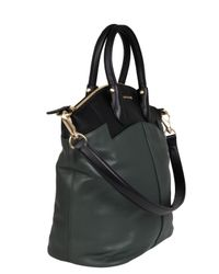 Givenchy Black Two Tone Leather Tote Bag