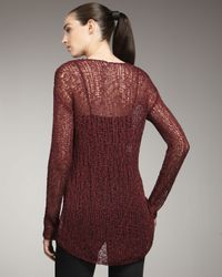 Helmut Lang   Red Wide-stitch Sweater   Lyst