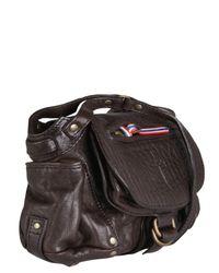 Jérôme Dreyfuss - Brown Twee Mini Leather Bag - Lyst