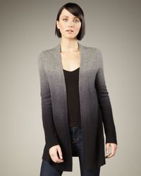 Neiman Marcus | Gray Ombre Cashmere Cardigan | Lyst