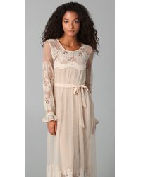 Zimmermann - Natural Trivial Embroidered Maxi Dress - Lyst