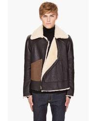 Alexander McQueen | Black Shearling Coat for Men | Lyst