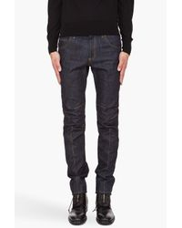 Alexander McQueen | Blue Darted Jeans for Men | Lyst