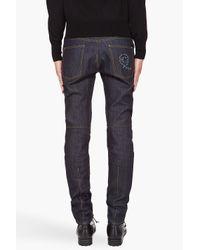 Alexander McQueen - Blue Darted Jeans for Men - Lyst
