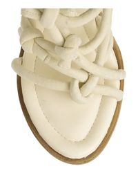 Alexander Wang Natural Tempest Knotted Suede and Leather Sandals