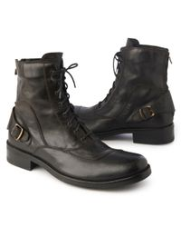 Belstaff Black Stonemaster Laced Boot for men