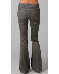 Goldsign | Gray Elan Corduroy Flare Pants | Lyst