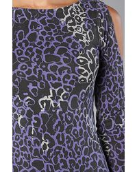 Insight The Ace Of Spades Leopard Print Dress in Blue